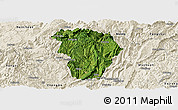 Satellite Panoramic Map of Daozhen, shaded relief outside