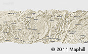 Shaded Relief Panoramic Map of Daozhen