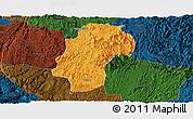 Political Panoramic Map of Dushan, darken