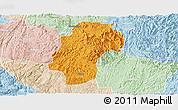 Political Panoramic Map of Dushan, lighten