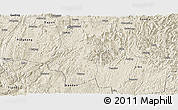 Shaded Relief Panoramic Map of Dushan