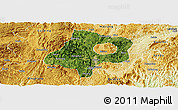 Satellite Panoramic Map of Duyun, physical outside