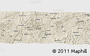 Shaded Relief Panoramic Map of Duyun