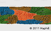 Political Panoramic Map of Fuquan, darken
