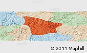 Political Panoramic Map of Fuquan, lighten