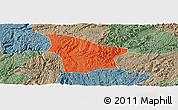 Political Panoramic Map of Fuquan, semi-desaturated