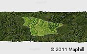 Satellite Panoramic Map of Fuquan, darken