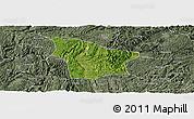 Satellite Panoramic Map of Fuquan, semi-desaturated