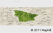 Satellite Panoramic Map of Fuquan, shaded relief outside