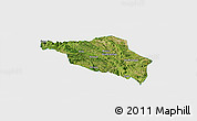 Satellite Panoramic Map of Guanling, single color outside