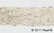 Shaded Relief Panoramic Map of Guanling