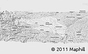 Silver Style Panoramic Map of Guanling