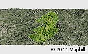 Satellite Panoramic Map of Guiding, semi-desaturated