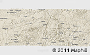 Shaded Relief Panoramic Map of Guiding