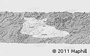 Gray Panoramic Map of Huangping