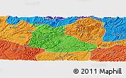 Political Panoramic Map of Huangping