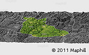 Satellite Panoramic Map of Huangping, desaturated