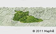 Satellite Panoramic Map of Huangping, lighten