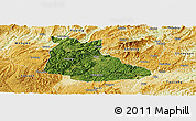 Satellite Panoramic Map of Huangping, physical outside