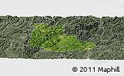 Satellite Panoramic Map of Huangping, semi-desaturated