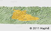 Savanna Style Panoramic Map of Huangping