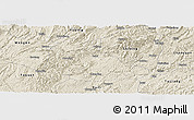 Shaded Relief Panoramic Map of Huangping