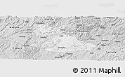 Silver Style Panoramic Map of Huangping