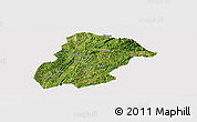 Satellite Panoramic Map of Huishui, cropped outside