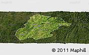 Satellite Panoramic Map of Huishui, darken