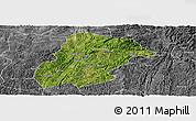 Satellite Panoramic Map of Huishui, desaturated