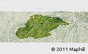 Satellite Panoramic Map of Huishui, lighten