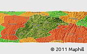 Satellite Panoramic Map of Huishui, political outside
