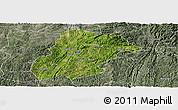 Satellite Panoramic Map of Huishui, semi-desaturated