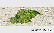Satellite Panoramic Map of Huishui, shaded relief outside