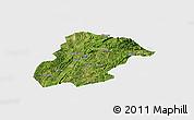 Satellite Panoramic Map of Huishui, single color outside