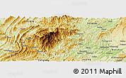 Physical Panoramic Map of Jiangkou