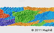 Political Panoramic Map of Jiangkou
