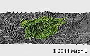 Satellite Panoramic Map of Jiangkou, desaturated