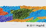 Satellite Panoramic Map of Jiangkou, political outside
