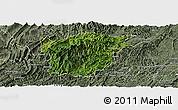 Satellite Panoramic Map of Jiangkou, semi-desaturated