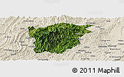 Satellite Panoramic Map of Jiangkou, shaded relief outside