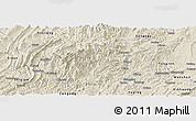 Shaded Relief Panoramic Map of Jiangkou