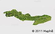 Satellite Panoramic Map of Jinsha, cropped outside