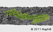Satellite Panoramic Map of Jinsha, desaturated