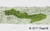 Satellite Panoramic Map of Jinsha, lighten
