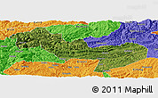 Satellite Panoramic Map of Jinsha, political outside