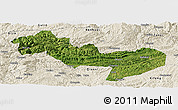 Satellite Panoramic Map of Jinsha, shaded relief outside