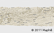 Shaded Relief Panoramic Map of Jinsha