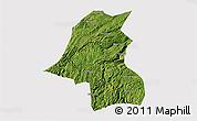 Satellite 3D Map of Kaiyang, cropped outside