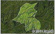 Satellite 3D Map of Kaiyang, darken
